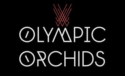 Logo Olympic Orchids białe litery na czarnym tle