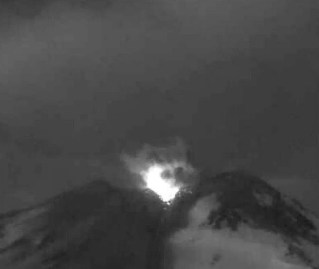 Explosión volcán Nevados de Chillán