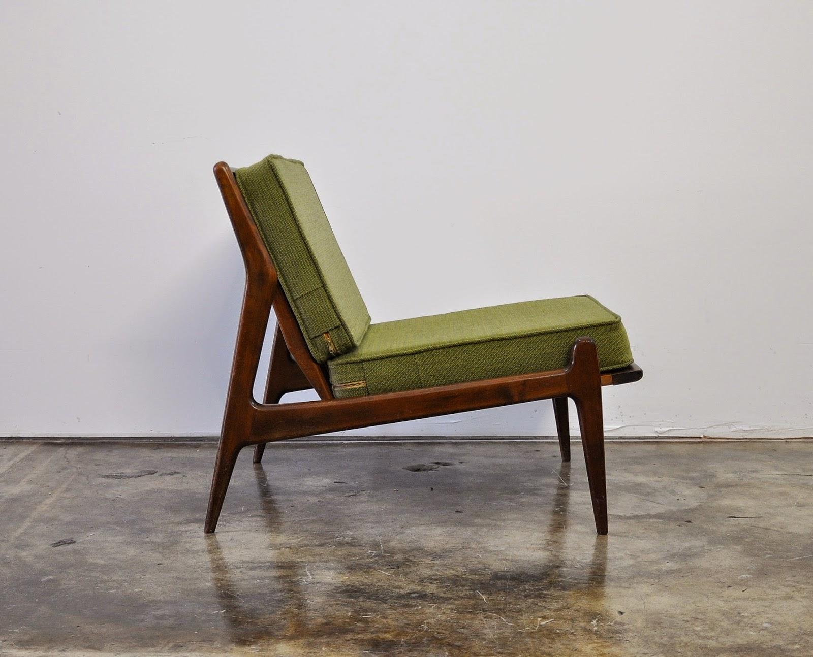 Select modern ib kofod larsen slipper chair for Slipper chair
