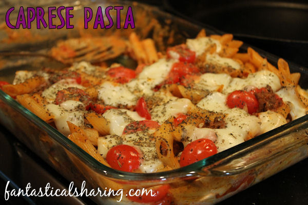 Caprese Pasta | This pasta goes perfectly with some grilled chicken and veggies for full meal #recipe #pasta #caprese