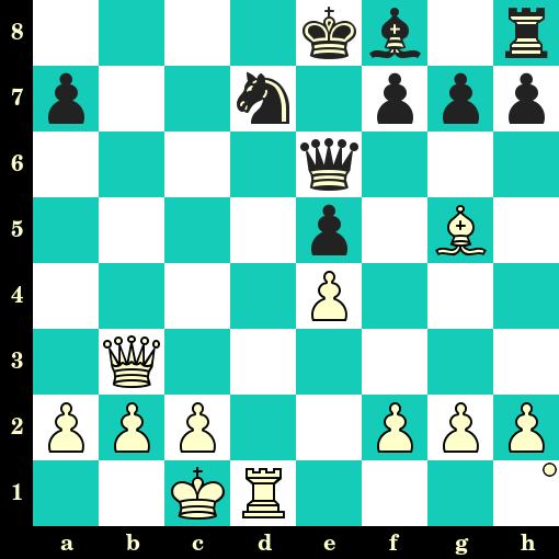 Les Blancs jouent et matent en 2 coups - Paul Morphy vs Duke Isouard, Paris, 1858