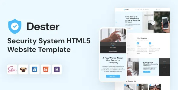 Best Security System Website Template