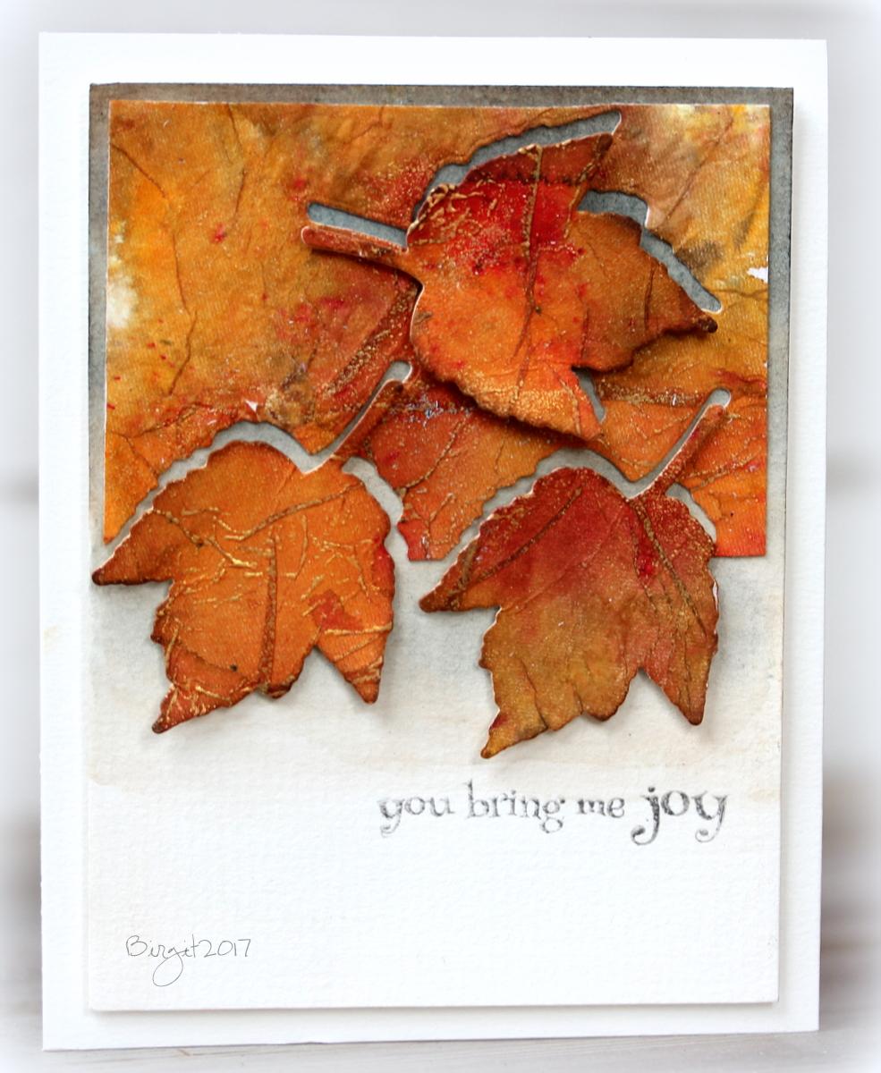 Листья из бумаги открытки