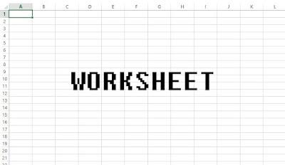 Worksheet di Microsoft Excel