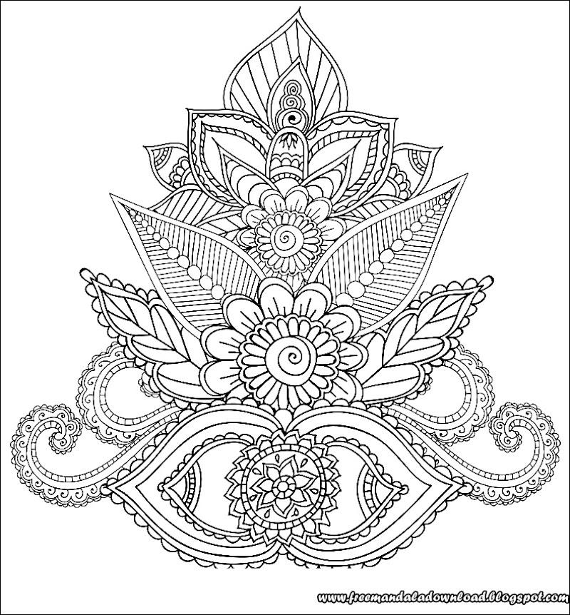 malvorlagen für erwachsene henna mehndi doodles mandala