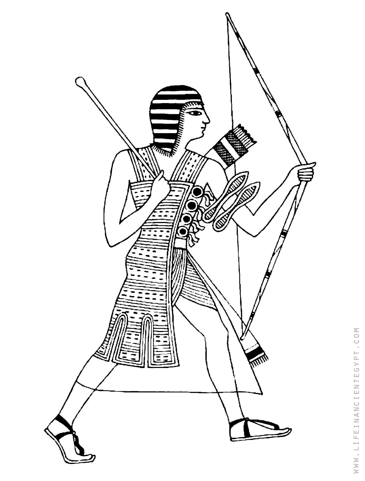 рос раскраска египетский воин раны заживают медленно