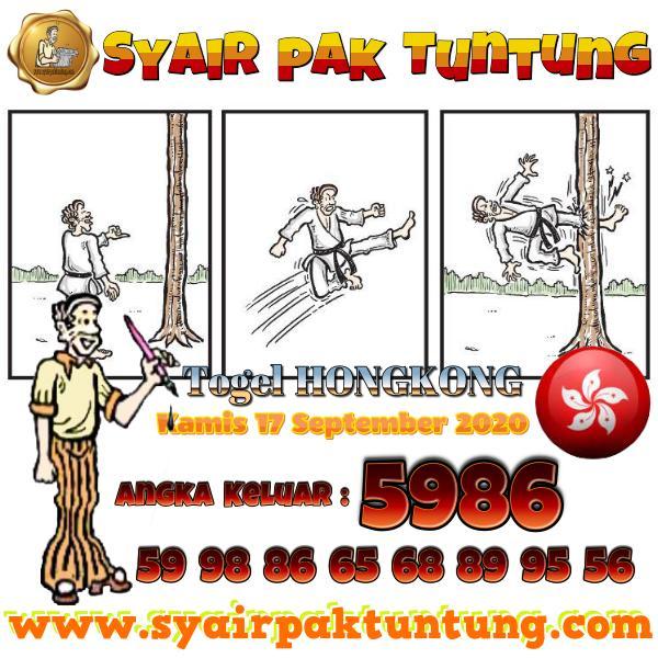 Syair HK Kams 17 September 2020 -