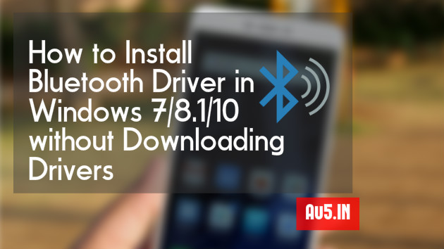 How to Install Bluetooth Driver in Windows Laptop