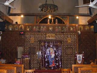 كنيسة العذراء الاثرية ببابلون الدرج