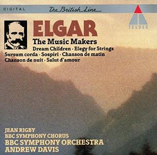 """Grabación en el sello Teldec de la obra """"Dream Children"""" de Elgar con la Orquesta Sinfónica de la BBC bajo la dirección de Andrew Davis."""