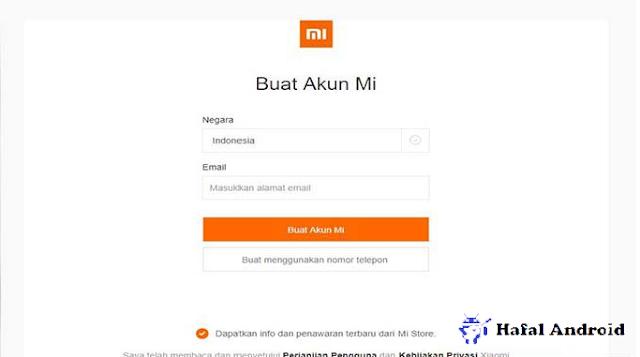 Cara Membuat Akun Mi dengan Email dari Web