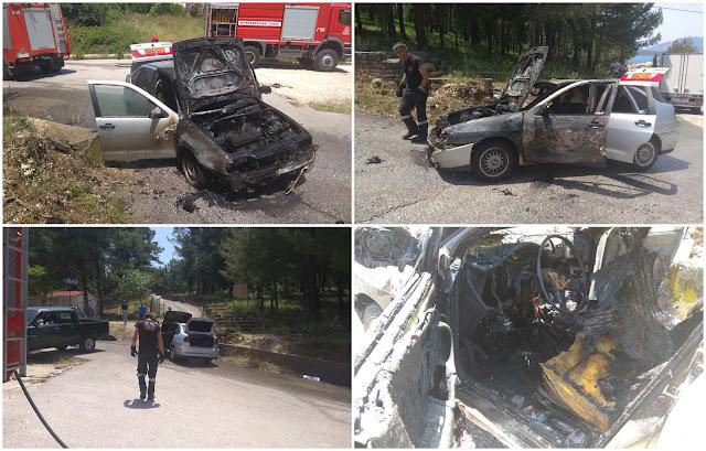 Ηγουμενίτσα: Καταστράφηκε από φωτιά ΙΧ της δασικής υπηρεσίας (+ΒΙΝΤΕΟ)
