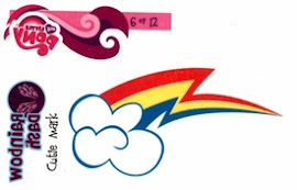 My Little Pony Tattoo Card 6 Series 1 Trading Card