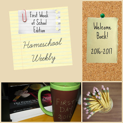 Homeschool Weekly - First Week of School Edition on Homeschool Coffee Break @ kympossibleblog.blogspot.com