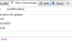 Penggunaan Queri View pada MySQL
