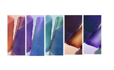 تنزيل خلفيات سامسونج نوت 20 الأصلية official Galaxy Note20 wallpapers