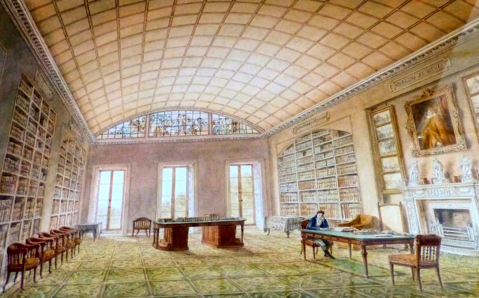 Richard Colt Hoare in his library at Stourhead