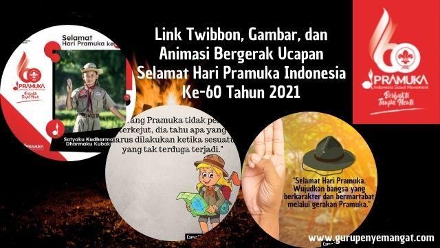 Link Twibbon, Gambar, dan Animasi Bergerak Ucapan Selamat Hari Pramuka Indonesia Ke-60 Tahun 2021