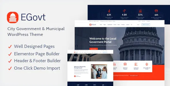 Best City Government WordPress Theme