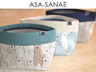 Kosmetiktasche Asa Sanae aus japanischen Leinenstoffen von Noriko handmade, handgemacht, Einzelstück, Unikat, Schminktäschchen