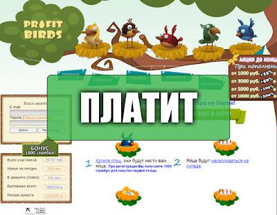 Скриншоты выплат с игры profit-birds.com