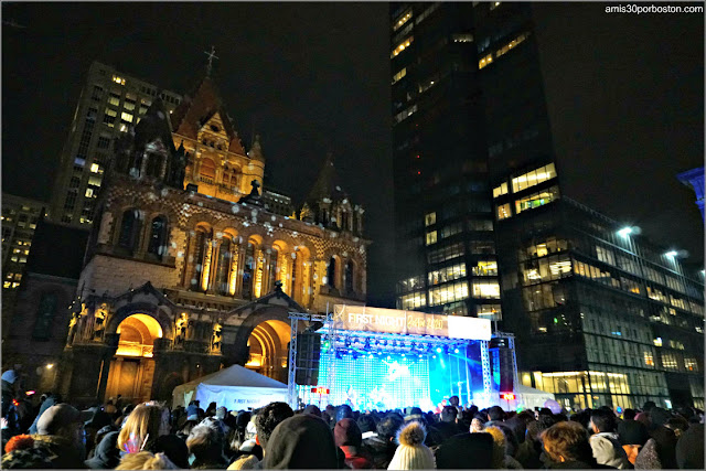 Conciertos de la First Night de Boston en Copley Square