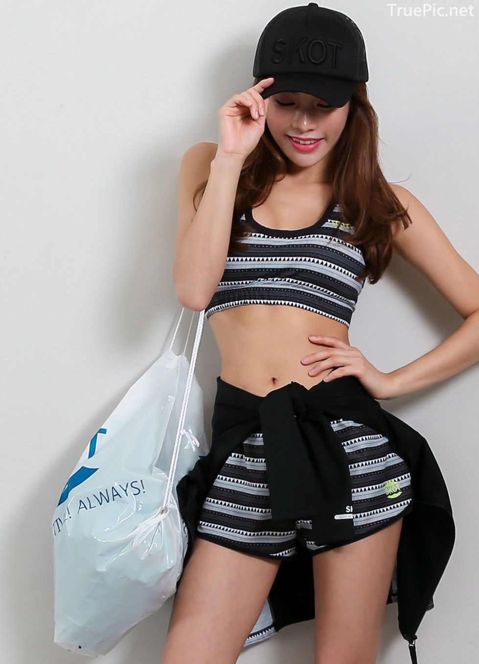 An Seo Rin - Short Shorts Fitness set - Korean model and fashion - Picture 6