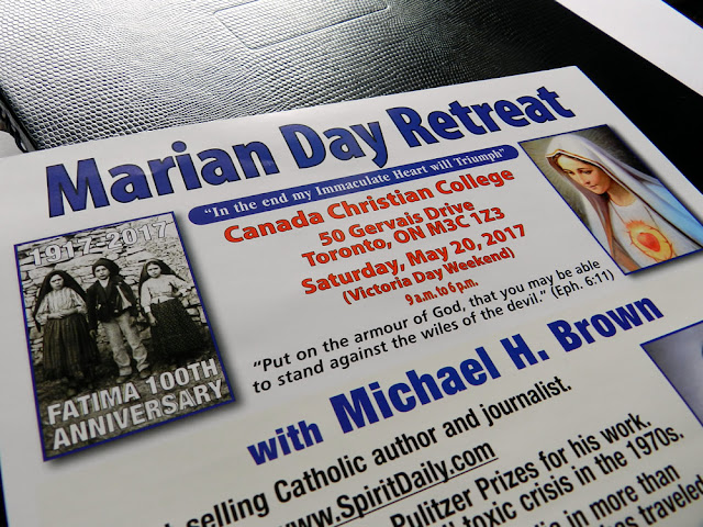 An image of the Marian Day Retreat 2017 flyer.