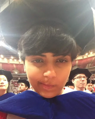 oindree banerjee at phd graduation pic for blog how to phd should I stay longer and make sure the paper gets published