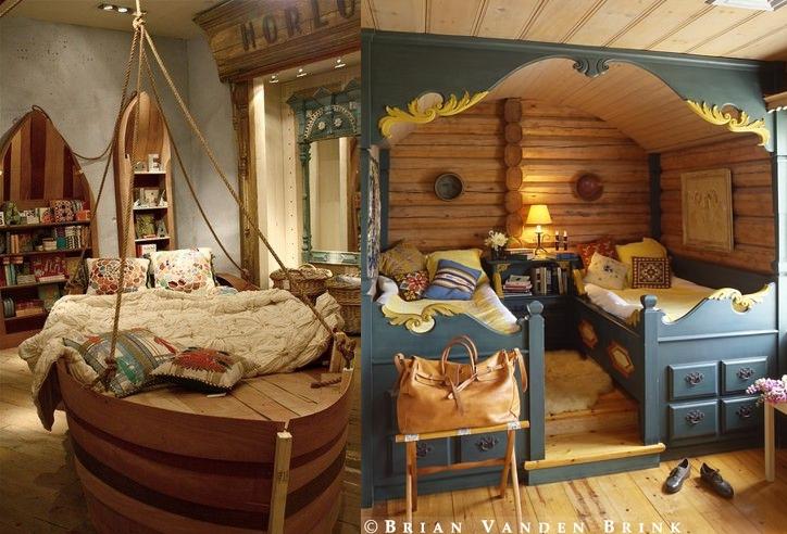 Decoracion de un dormitorio infantil con tema Peter Pan