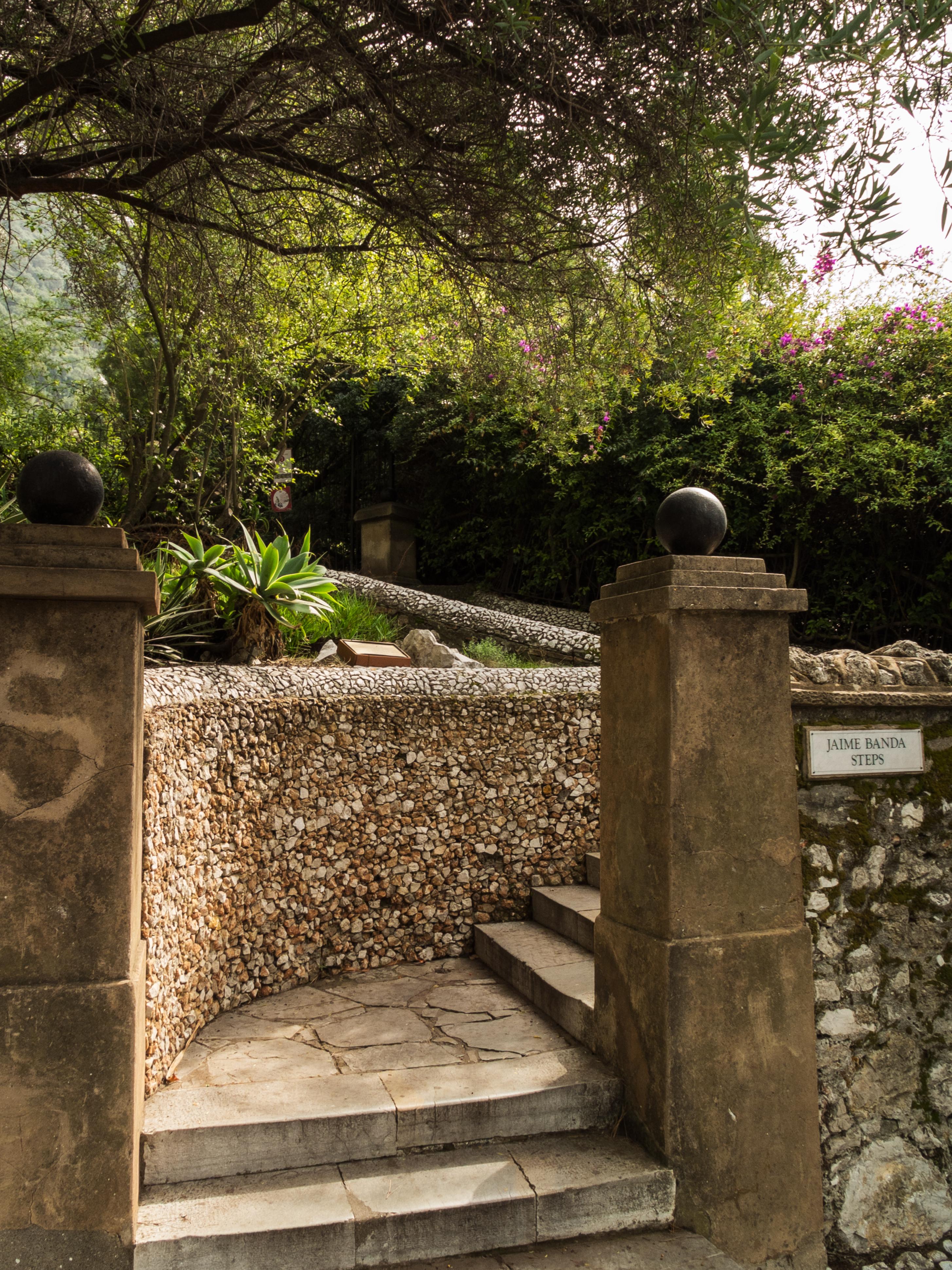 Jaime Banda Steps in the Gibraltar Botanic Gardens.