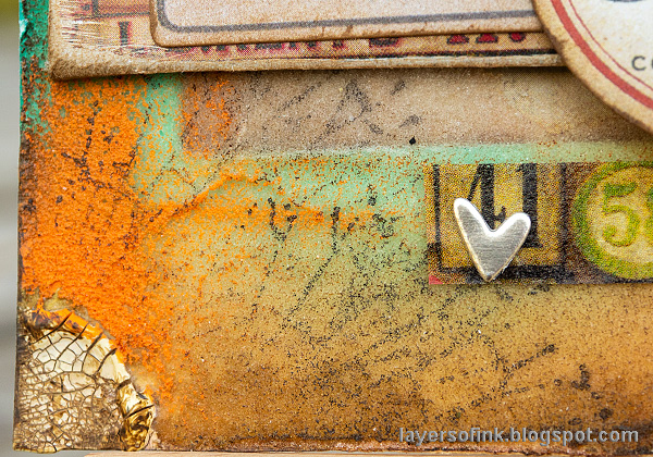 Layers of ink - Texture Paste Tag Tutorial by Anna-Karin Evaldsson.
