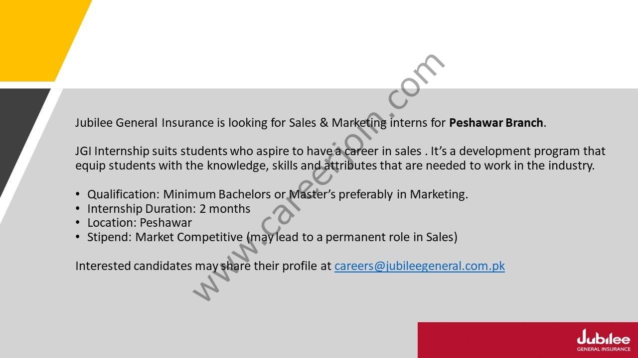 Jubilee General Insurance Company Ltd Internship September 2021