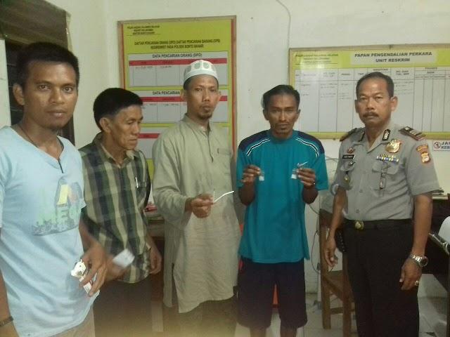 Kepolisian Sektor Bonto Bahari Menangkap  Pemakai Barang Haram
