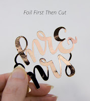 Tips for die cutting minc foil - video - K Becca