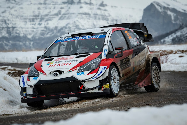 Toyota Yaris WRC Car on Monte Carlo Rally