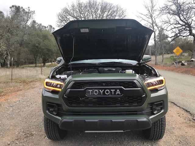 Hood up on 2020 Toyota Tacoma TRD PRO