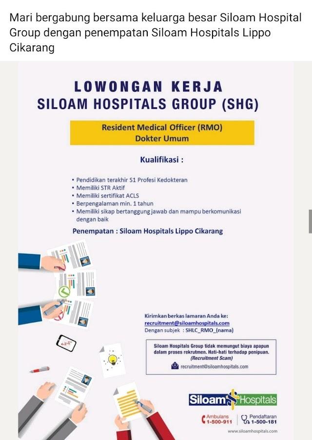 Loker Dokter Umum Siloam Hospital Group (SHG) Penempatan Siloam Hospital Lippo Cikarang