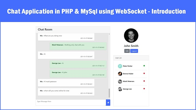 Build Real time Chat Application in PHP Mysql using WebSocket