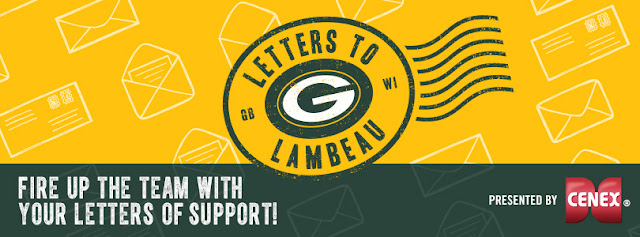The Green Bay Packers want you to help to fire up their team by writing letters to Lambeau Field showing your support for the team and you could win a $50 Gift Card to the Packers Pro Shop!