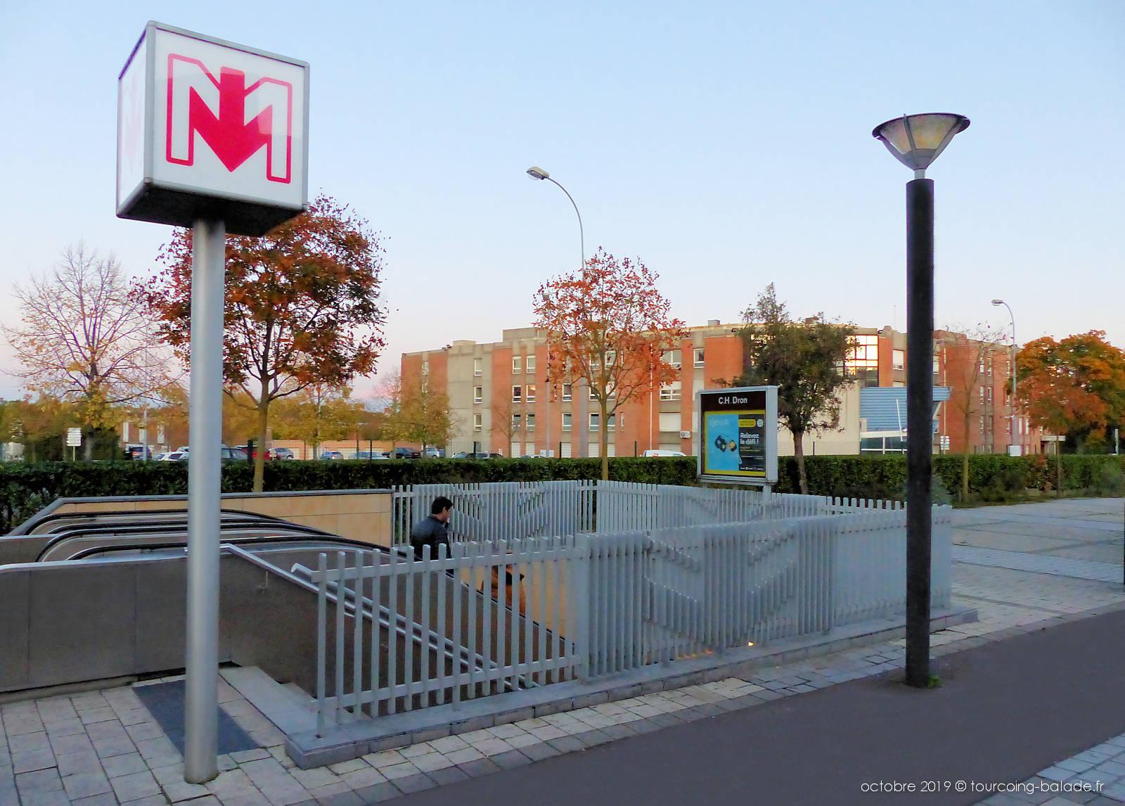 Métro Tourcoing - Station CH Dron Hôpital.
