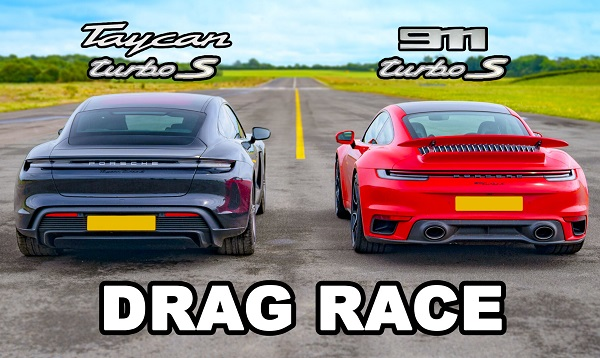Porsche Taycan Turbo S vs Porsche 911 Turbo S