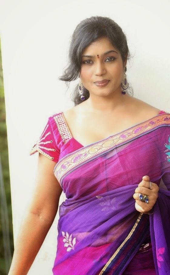 Jayavani Aunty Hot Photos In Saree - Masala Gallery-7331