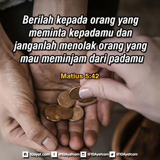 Matius 5:42