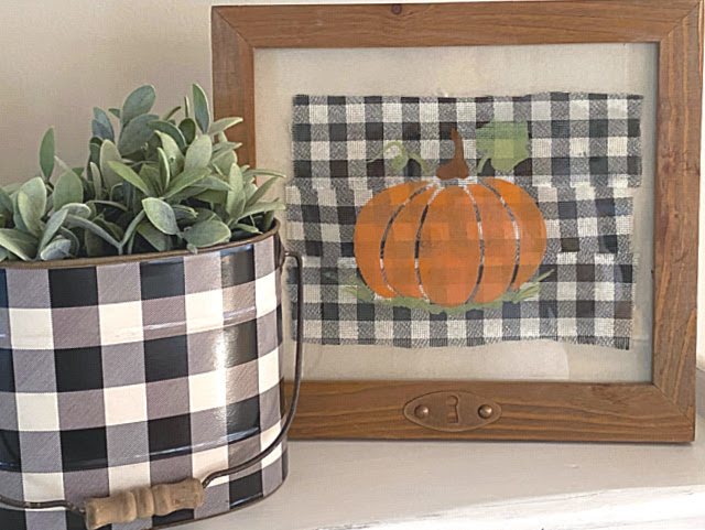 How to Stencil a Pumpkin for Fall on Glass