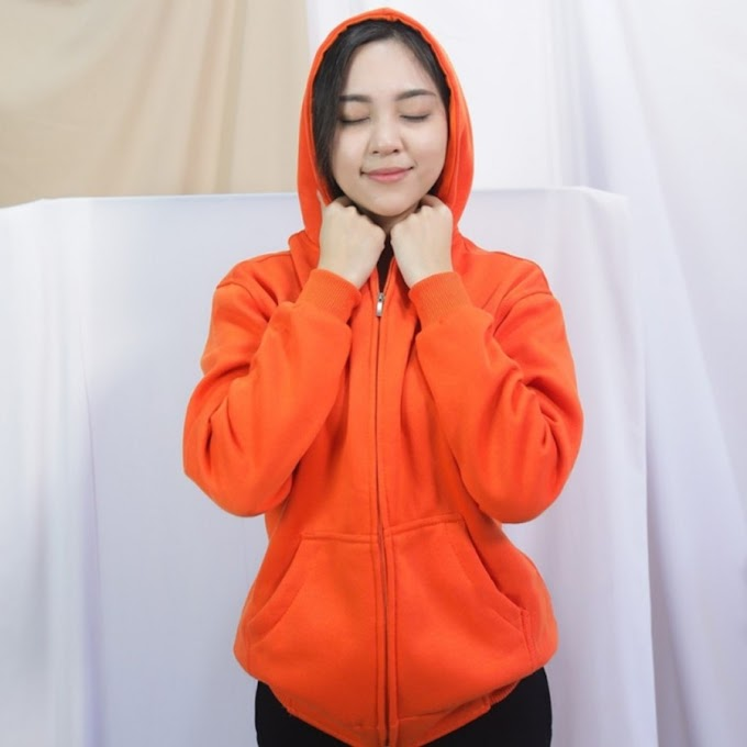 JAKET ZIPPER UNISEX ORANGE
