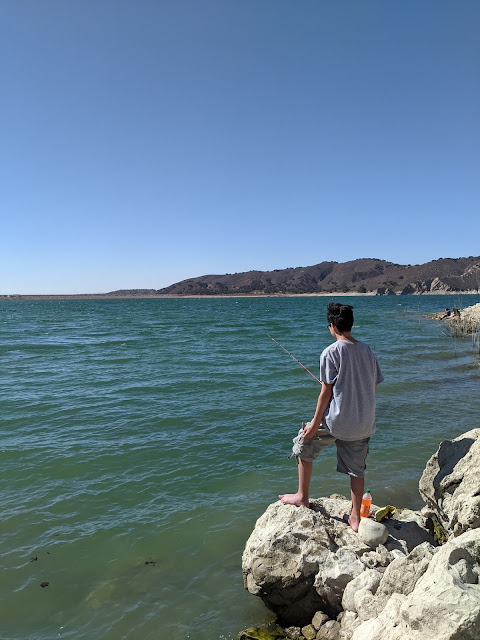 Fishing at Lake Cachuma California