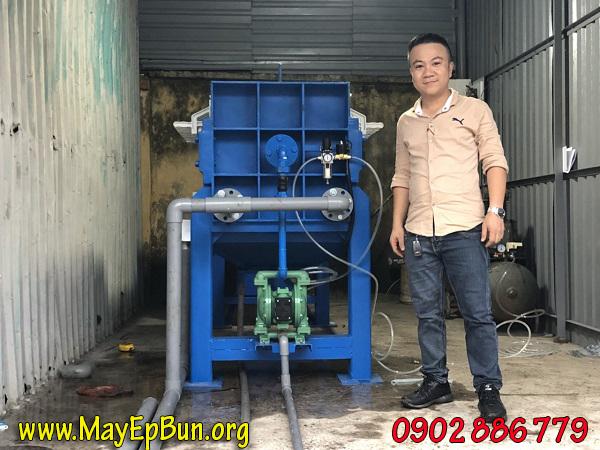 Hoàn thiện máy ép bùn khung ban Vĩnh Phát cho khách hàng HTX Tấn Thành