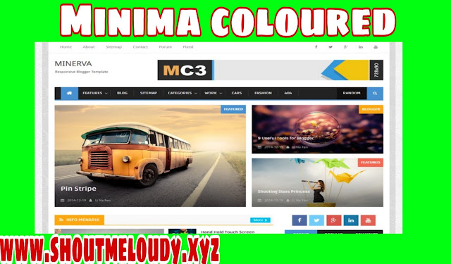 MINIMA COLOURED 3 MAG BLOGGER TEMPLATE