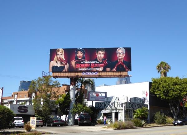 Scream Queens series launch billboard